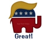Presidential Election - Great Hair - Digital Appliqué Embroidery Design (111)