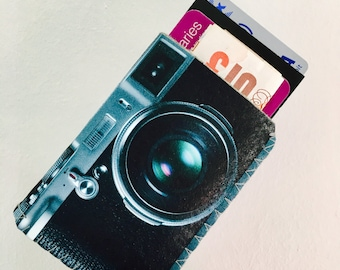 Business Card Holder,Business Card Case, Credit Card Case, Oyster Card Holder, Debit Card Holder - Retro Camera