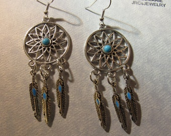 Dream Catcher with Turquoise Earrings
