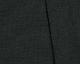 Black, Interlock Knit Fabric, Wide, Lightweight, Cotton Polyester, half yard, B17
