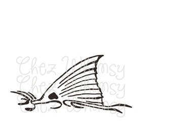 Redfish SVG, Redfish Tail, Redfish Fin SVG, Hand Drawn Redfish Tail, Fish Svg Design, Fisherman, Fishing