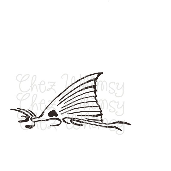 redfish svg redfish tail redfish fin svg hand drawn redfish
