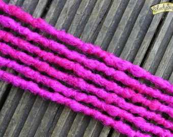 Hot pink SE x6 Crochet Synthetic Dreads