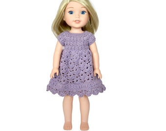 "Download Now - CROCHET PATTERN 14.5"" Doll Spring Petal Dress Pattern"