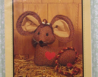Calico Mouse Doorstop UNCUT Vintage 1980's Honey Bee Pattern #D3 Country