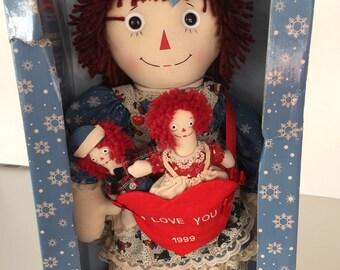 Raggedy Ann Cloth Doll Christmas By Gatormom13