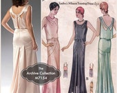 1930s Evening Gown Pattern McCall's M7154 McCall 6057 Wedding Dress Bridal Dance Prom Cocktail Reissue Uncut Womens Vintage Sewing Pattern
