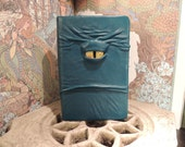 Mythical Beast Book (Turquoise leather with Yellow eye)