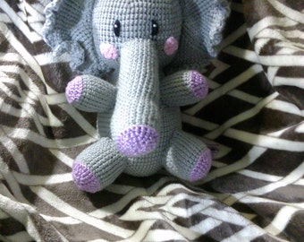 Crochet elephant ANY colors you want