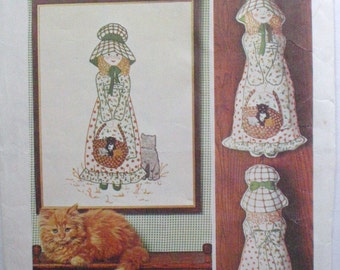 Holly Hobbie Embroidery Craft Pattern - Set of Iron On Transfers for Embroidered Picture or Stuffed Doll - Simplicity 6248 - Unused