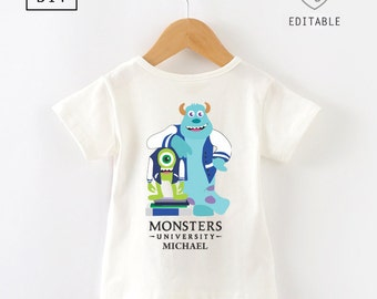 Monsters Inc Shirt iron on transfer | Monsters Inc tshirt | Monsters Inc t-shirt | Monsters Inc shirt iron on transfer |  DIY iron on
