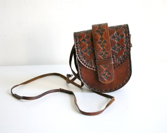 Morrocan Stamped Leather Satchel