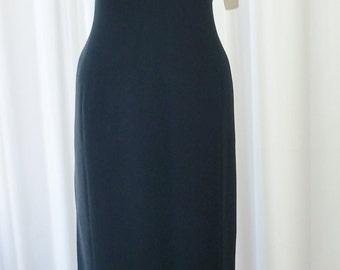 Jones New York Black Cocktail Dress 180.00 Retail NOS