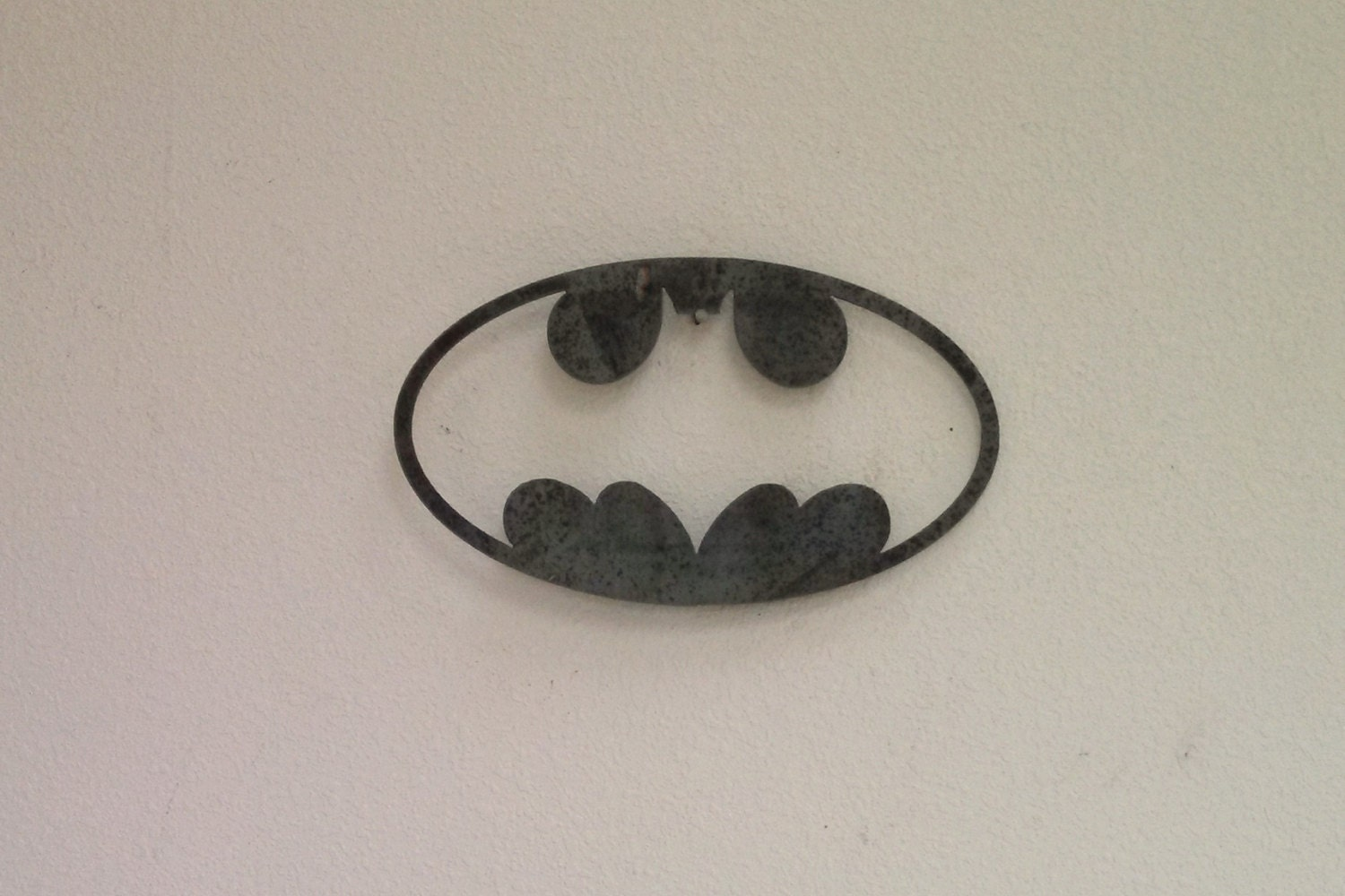 Batman oval cutout wall art steel custom batman wall by fttdesign - Oval wall decor ...