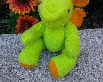 "7"" stuffed dragon, baby dragon, toy dragon"