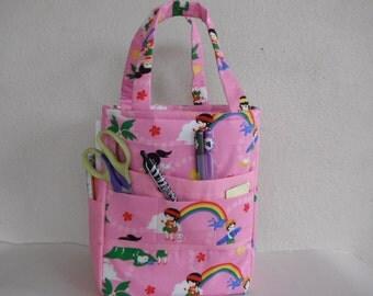 Pink Hawaiian Art caddy