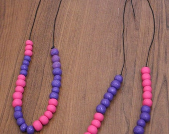 Purple Polymer Clay Necklace