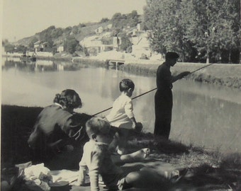 Vintage Photograph - Gone Fishing