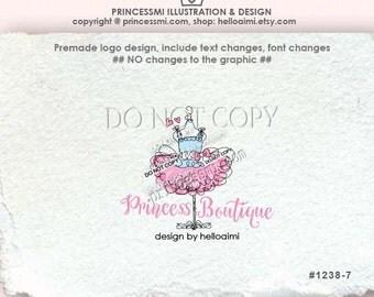 1238-7 tutu logo design, tutu fashion logo dummy dress tutu logo business logo boutique by princessmi  1238-7