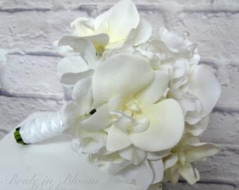 Bridesmaid bouquets - White orchid wedding bouquet - Bridesmaid bouquet