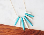 Tanie Necklace - Turquoise + Bone