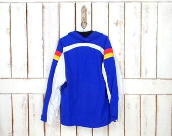 Vintage blue/white/striped nylon ski/snowboard jacket/winter nylon snow jacket/vintage ski wear/NFA