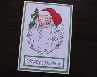 Jolly Santa Card
