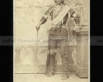 Rare 1870s CDV Photo of a Nebraska Native American Indian