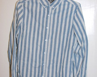 Rad Lightweight 90s Inspired Striped Button Down Shirt Mens Extra Small XS Urban Outfitters Womens Small Stripe