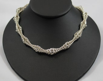 Bubble Box Chainmaille Necklace