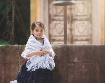 Afina - Girl Feather Dress and shawl