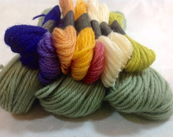 11 Skeins Bucilla and Paragon Tapestry Wool in Various Colors