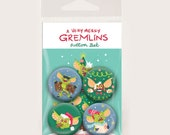 Gremlins - Christmas Button 4 pack Set