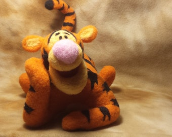 Needle Felted Tiger Tigger Winnie the Poo Character