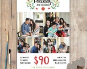 Christmas Mini Session Template, Holiday Mini Session, Marketing Board for Photographers Holiday Session Photography INSTANT DOWNLOAD