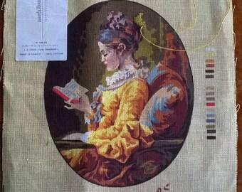 Vintage Petit Point Canvas - Design by Royal Paris - La Liseuse