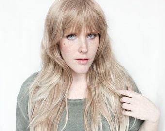 SALE Blonde wig | Long Blonde wig | Natural Ombre wig, Gradient wig | Cocoa + Cream