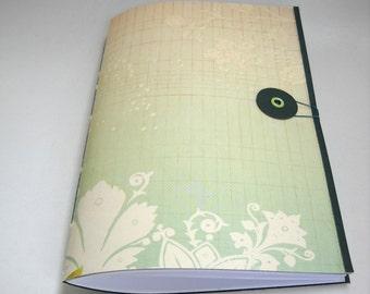 Folio Closure Notebook, Blush Green Softcover