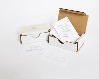 Letterpress Mini Notecards, Set of 10, Hello Darling