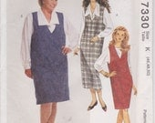 Plus Size Dress Pattern Pullover Jumper Blouse Shirt Women's Size 46 - 48 - 50  uncut McCalls 7330 Full Figure