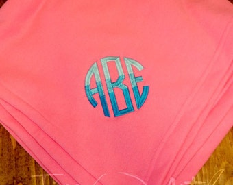 Monogram Sweatshirt Blanket in Team and Neon Colors and Camo Camouflage