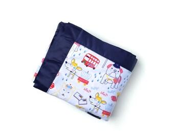 Flannel Baby Boy Blanket - Fun British Dogs - Toddler Blanket