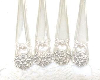 4 Silver Eternally Yours Dinner Forks 1941 /