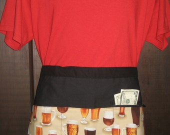 Beer Glasses and Mugs Vendor Style Half Apron