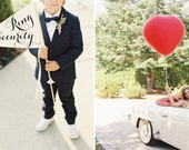 RING SECURITY Wedding Sign | Funny Ring Bearer Wedding Banner | Large Pennant Flag For Your Ringbearer Made To Order | Made in the USA