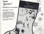Paragon Needlecraft Playful GNOMES Christmas Stocking Kit #6517 UNIEBOEK, B.V.  1979