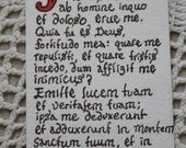 Judica Me Psalm 42 - Original Handlettered Latin Bookmark