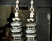 Matte Grey Hematite Earrings