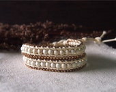 Beaded Wrap Bracelet Simulated Leather Wrap Bracelet Wooden Beaded Strand Beaded Wrap 12135I