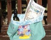 Handmade bag for life, proceeds to charity,   handmade appliqué,